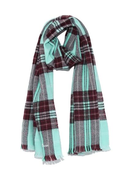 彩色格紋圍巾