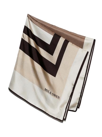 幾何圖案絲巾