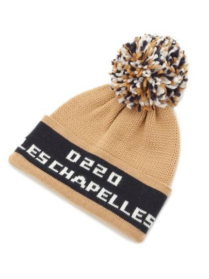 LOGO毛球針織帽