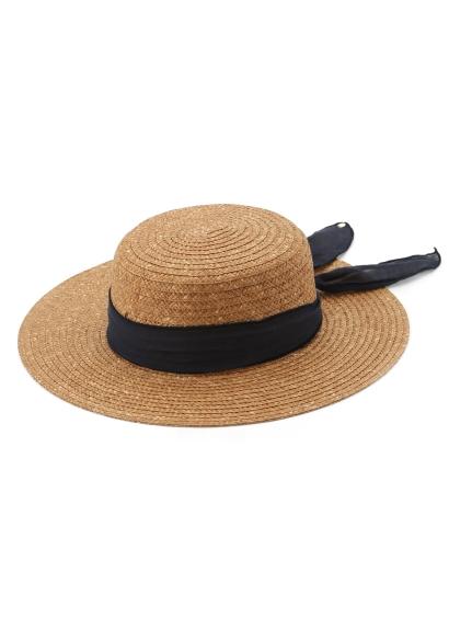 配色綁帶草帽
