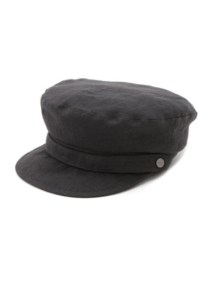 亞麻釦帶飾報童帽