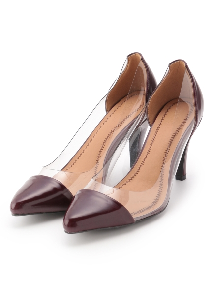 透膚拼接高跟鞋
