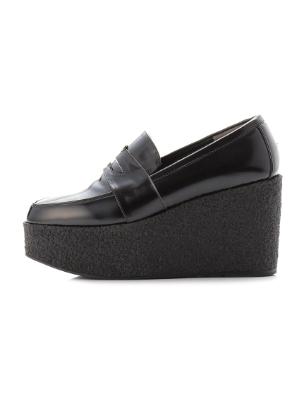 厚底皮質樂福鞋