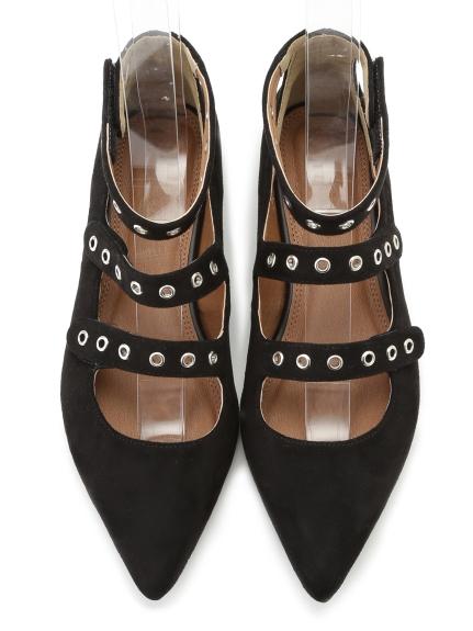 個性繫帶造型平底鞋