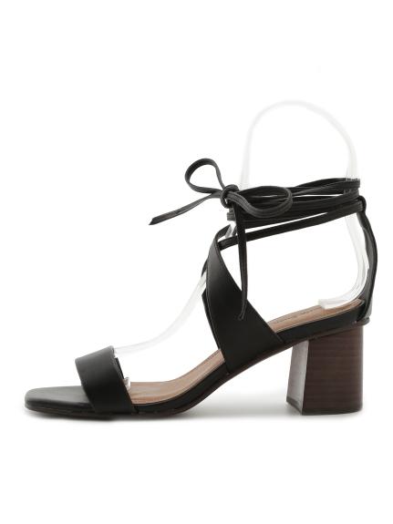 優雅綁帶造型高跟涼鞋