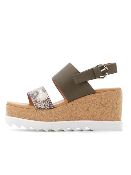 楔形皮質涼鞋