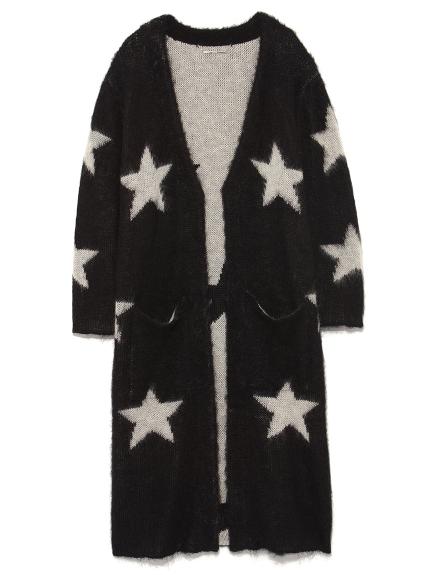 星星長版開襟外套