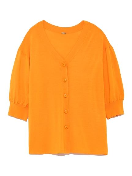 夏日羊毛蓬袖開襟衫