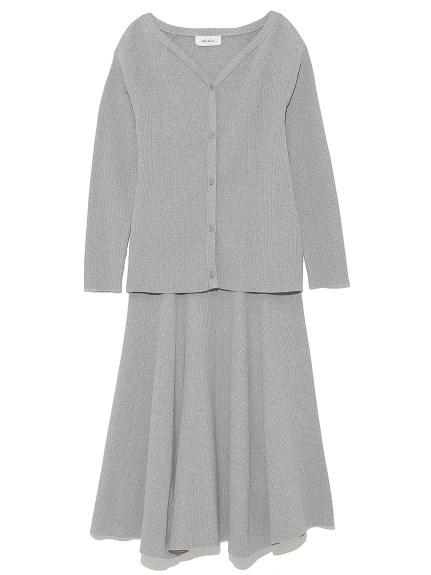 針織開襟衣裙組合