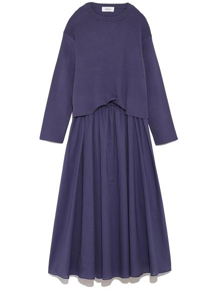 素雅兩件式針織洋裝