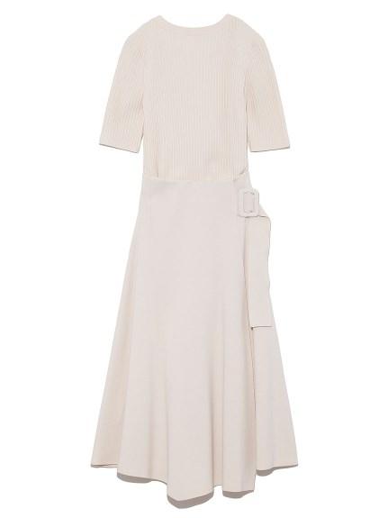 挖背羅紋針織套裝洋裝