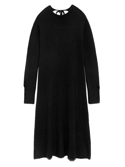 露背寬羅紋針織連身裙