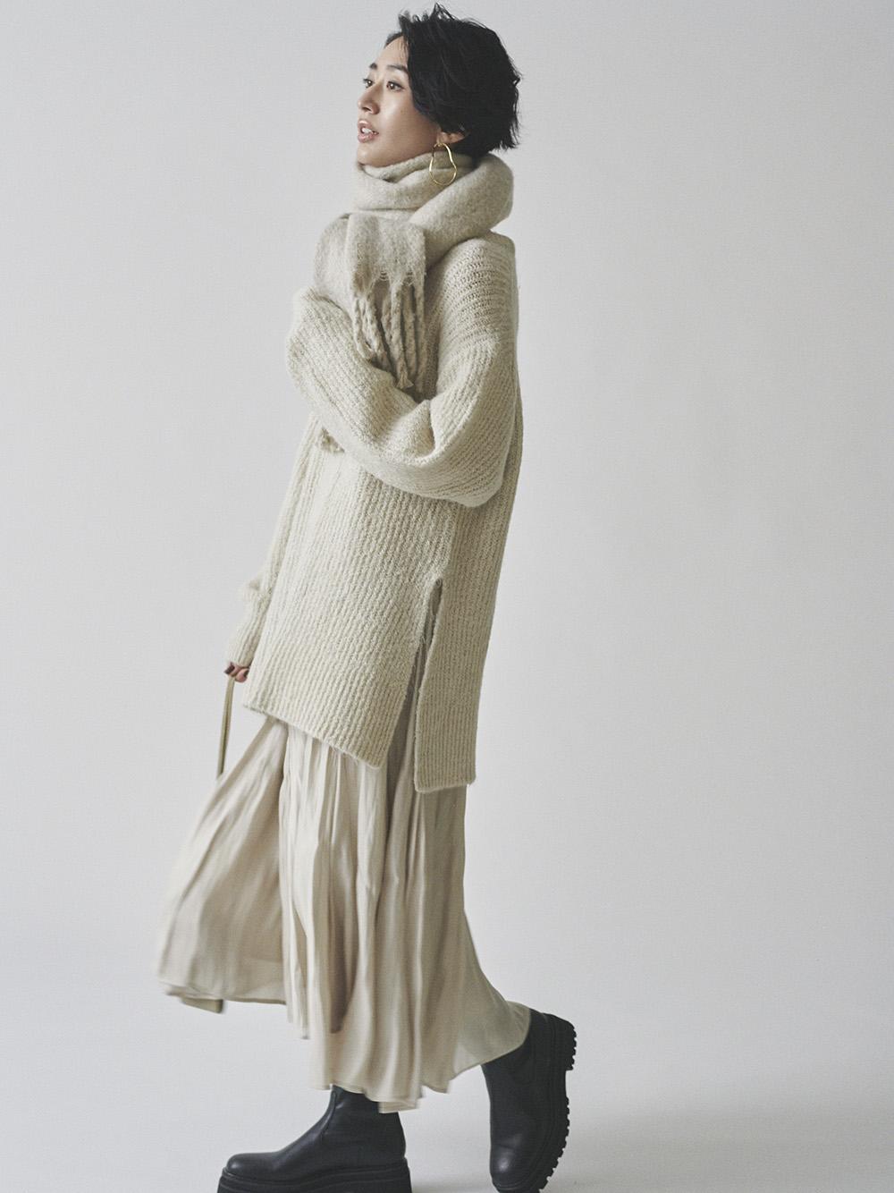 針織上衣傘裙SETUP