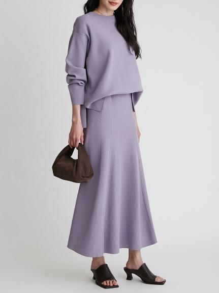 休閒風羅紋針織長裙組合