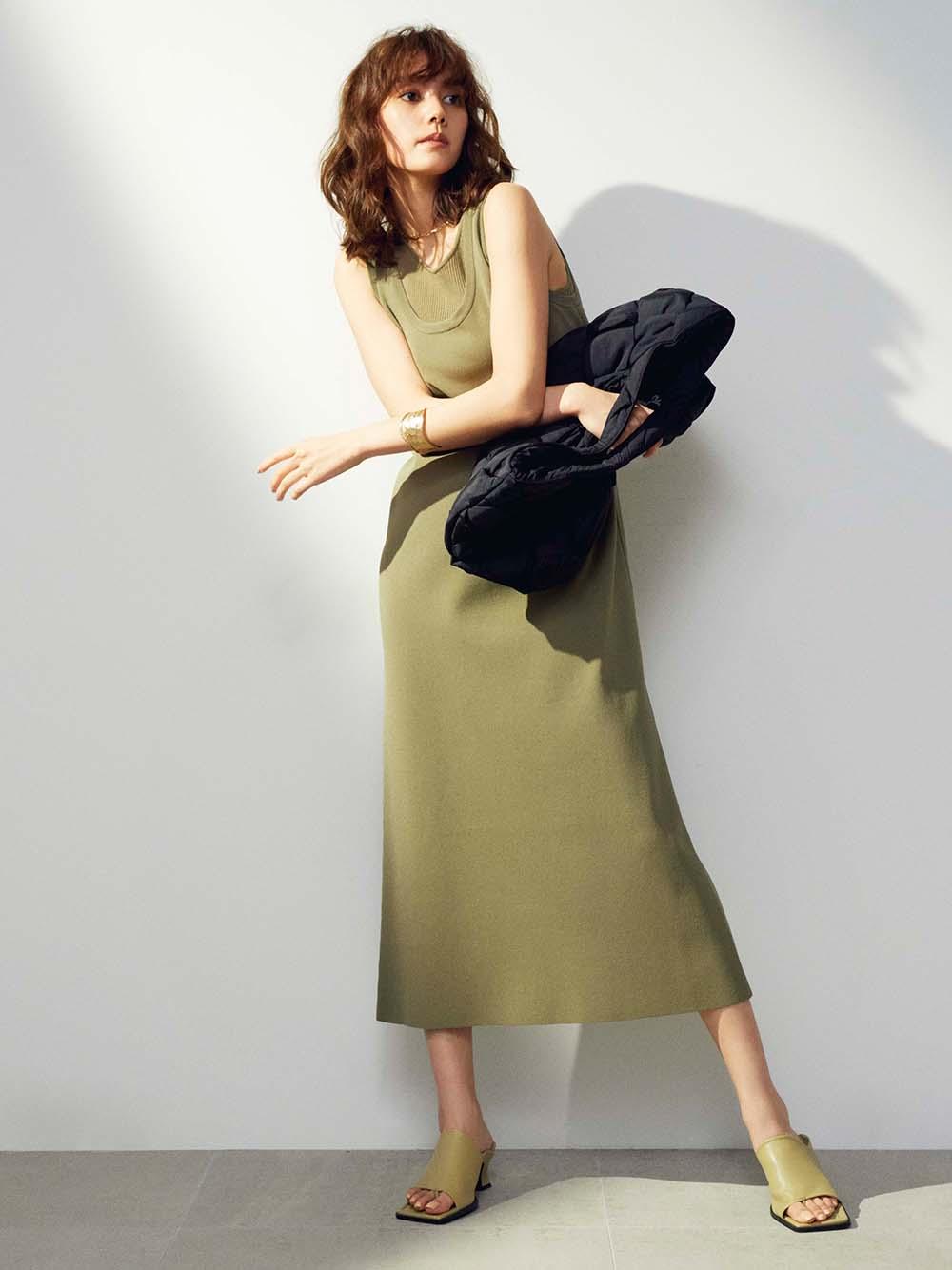 背心式針織連身裙