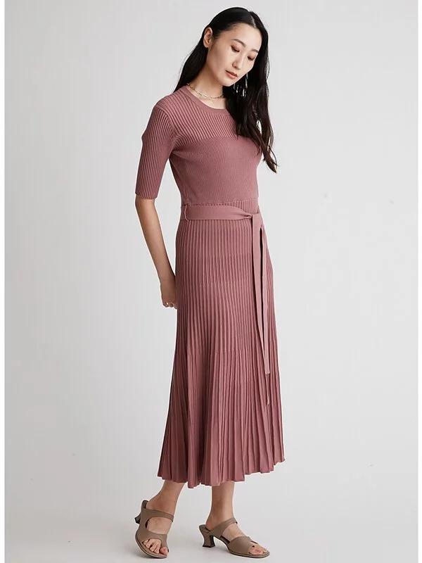 針織露背連身裙