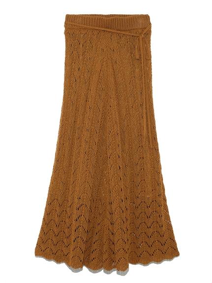 鉤針編織喇叭長裙