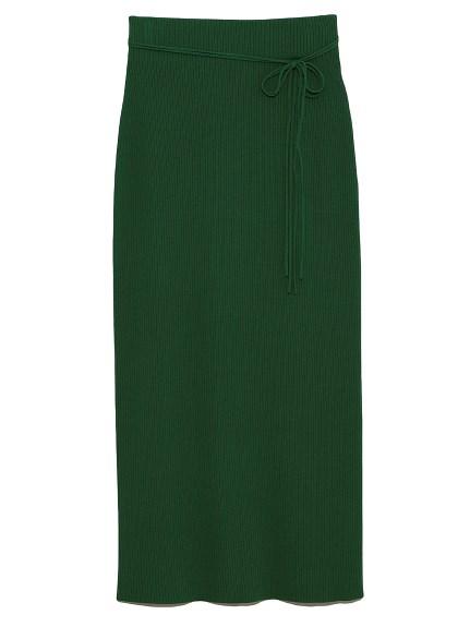 羅紋針織直筒長裙