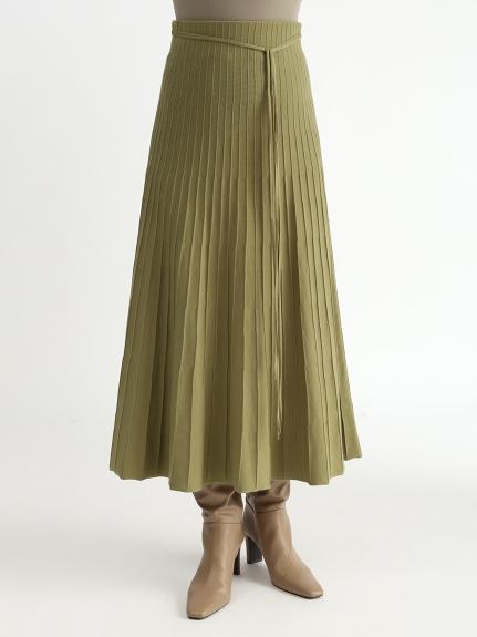 有機棉針織百褶裙