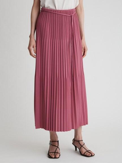 3段百褶直筒針織長裙
