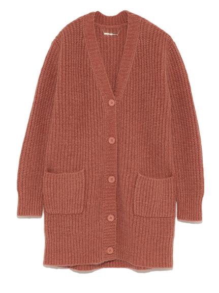 純色針織開襟外套
