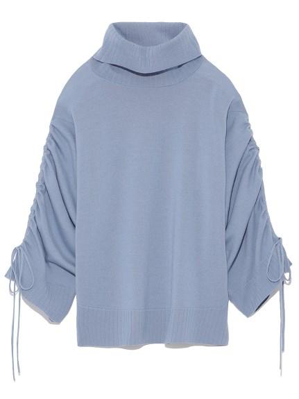 袖口繫帶羊毛針織上衣