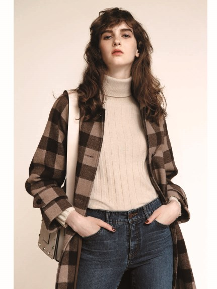 純色高領毛衣