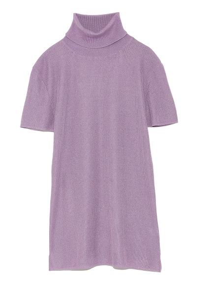 純色短袖針織上衣