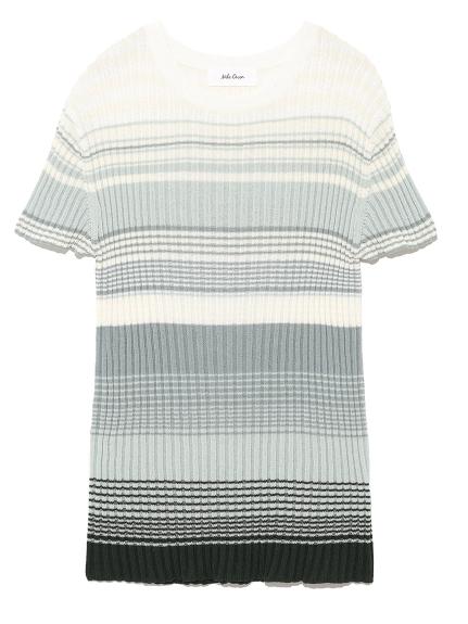 漸層條紋造型針織衫