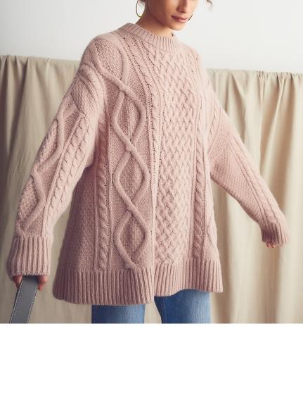 寬版麻花編織毛衣