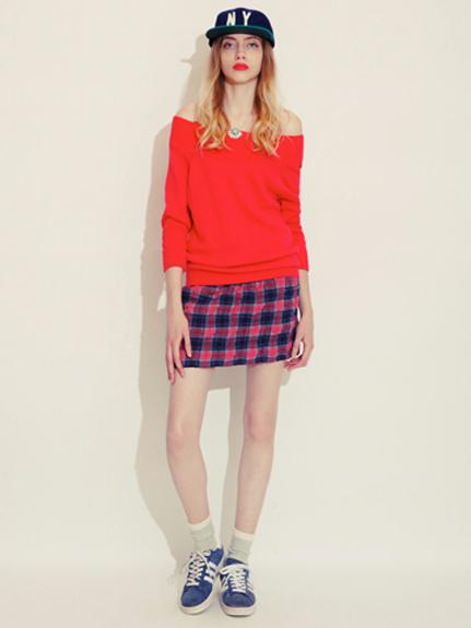 休閒格紋短裙