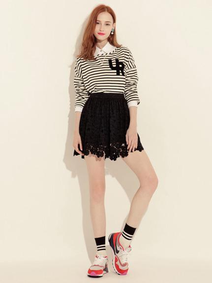 甜美蕾絲褲裙