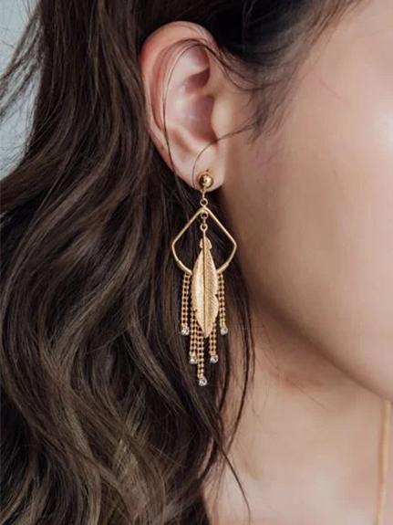 印地安羽毛耳環