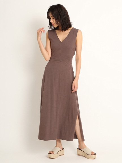 露背綁帶連身裙