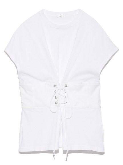 腰間交叉綁帶造型T-shirt