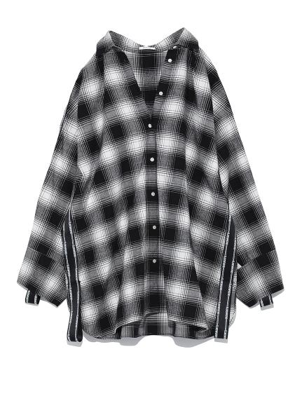 oversize袖口緞帶襯衫