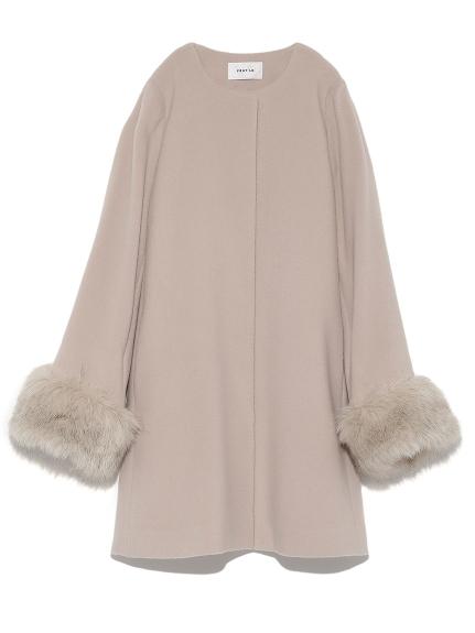 羊毛開襟大衣