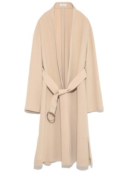 質感綁帶開襟大衣