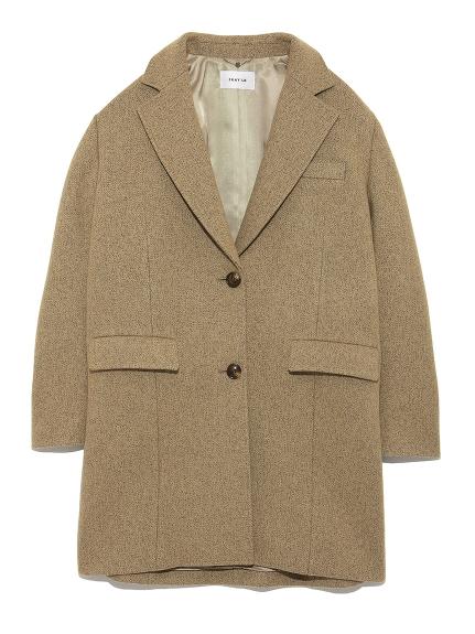 羊毛大落肩西裝外套
