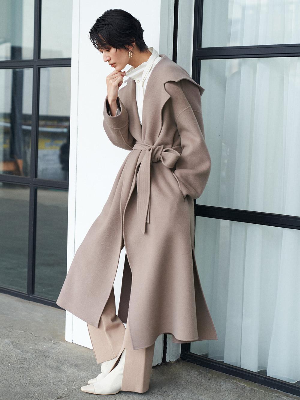MANTECO連帽羊毛大衣