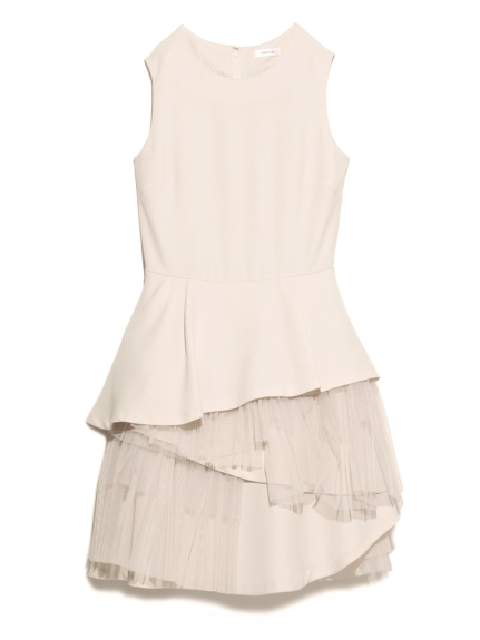 不規則雪紡紗層次洋裝