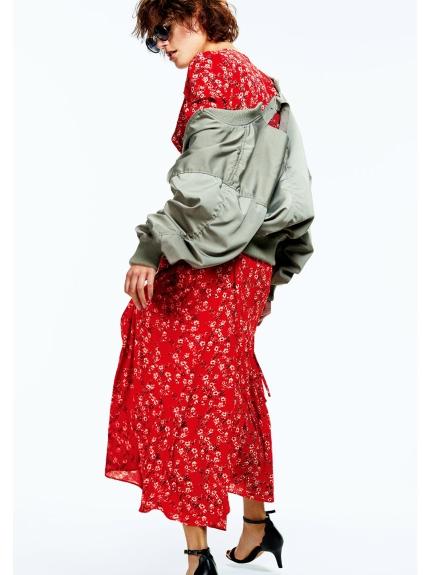 碎花繫帶中長版洋裝
