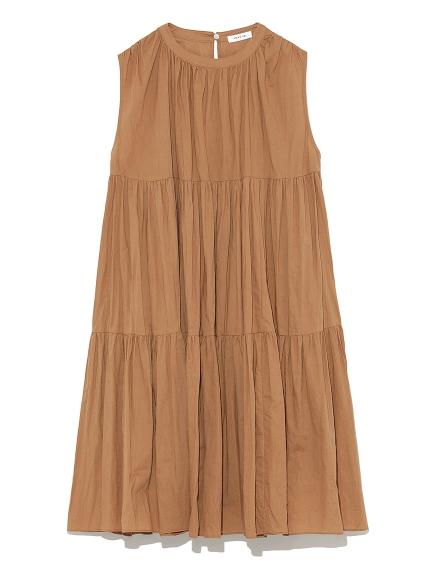 純色層次連身裙