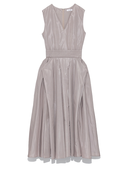 塔夫綢V領洋裝