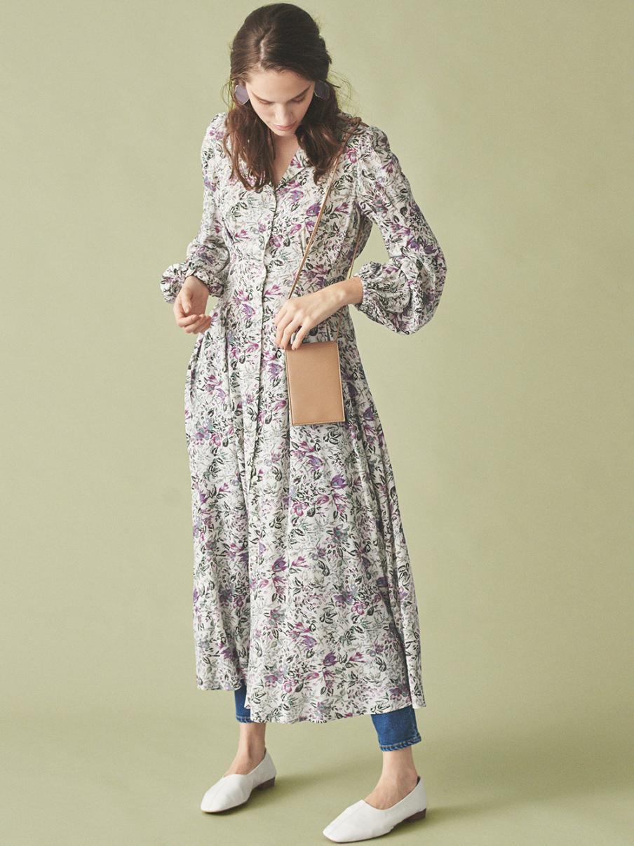 壓線襯衫式洋裝
