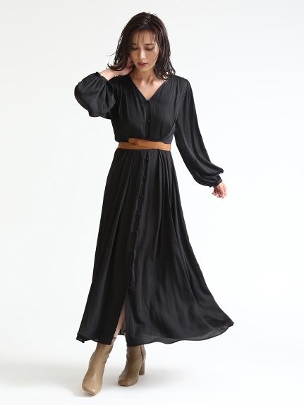 皮革腰帶連身裙