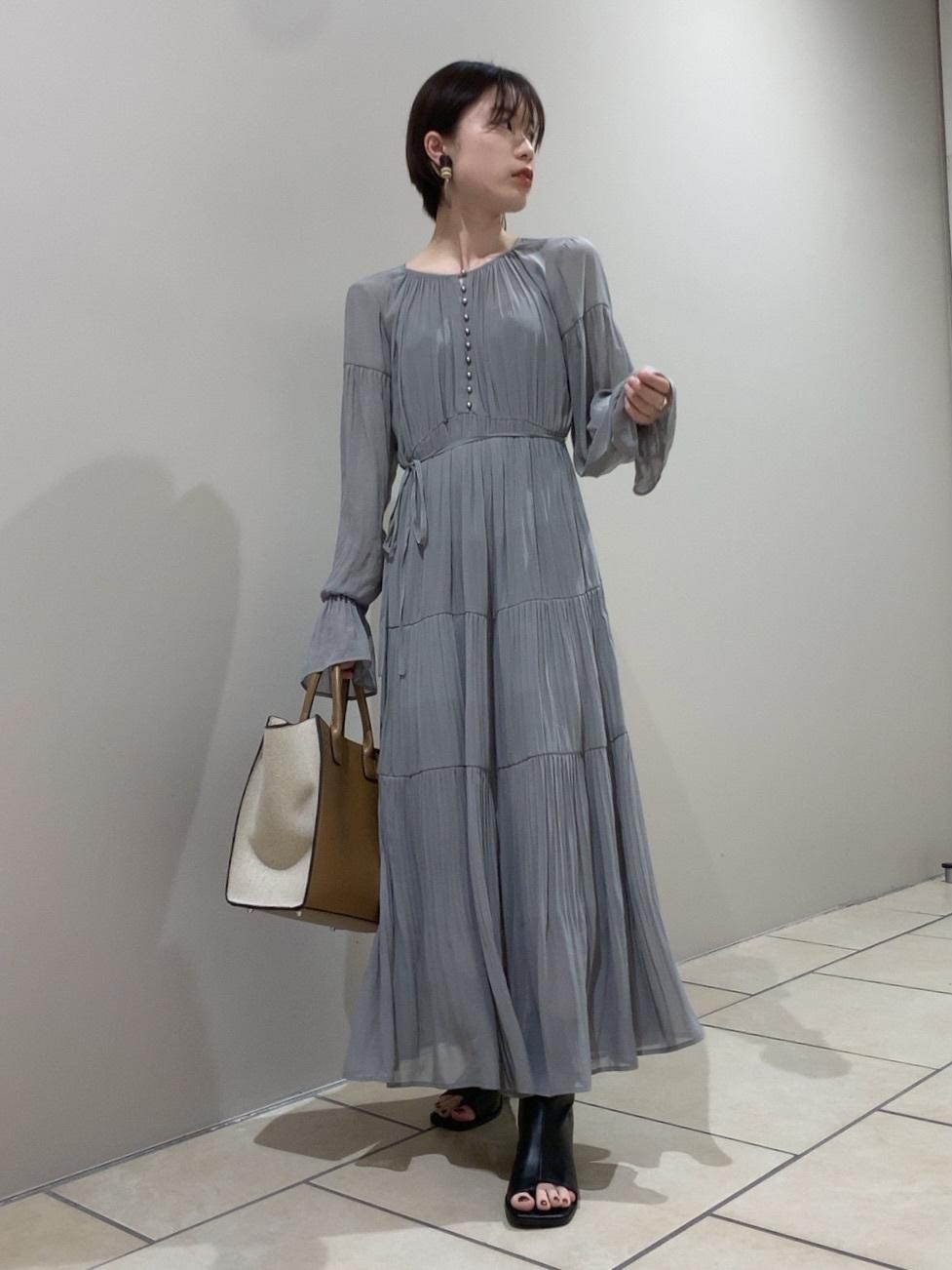 雪紡百褶長版連身裙