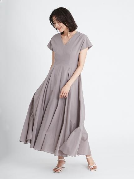 棉質巴里紗傘襬連身裙