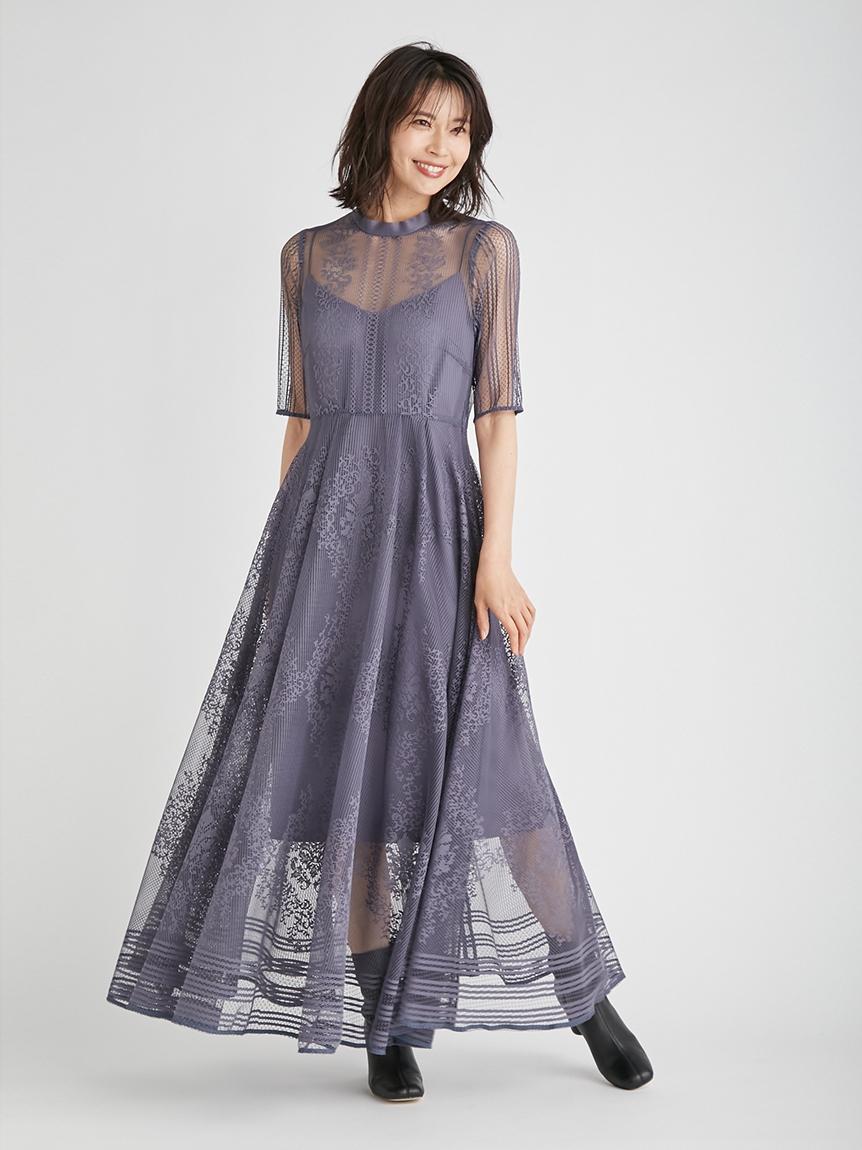 雕花紋蕾絲禮服