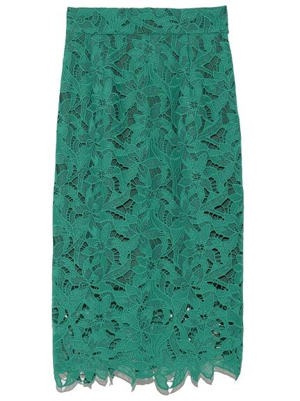 簍空花邊剪裁造型長裙